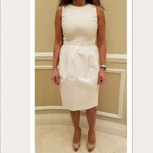 MAGASCHONI COLLECTION WHITE SLEEVELESS DRESS
